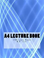 A4 Lecture Book Curved Lines Design