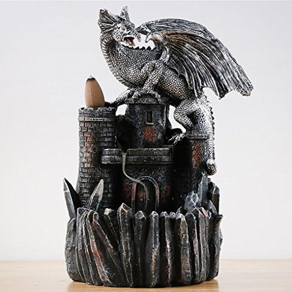 動機裕福なゴールデンドラゴン香炉逆流香炉ホルダースモーク