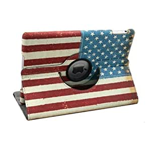 Termichy? USA Flag Pattern 360 Degrees Rotating Stand Leather Case for Apple iPad air/iPad 5 by Termichy [並行輸入品]