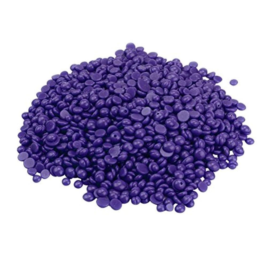 サイレンフロー慣習ROSENICE ハードワックス豆 脚の脱毛 いいえストリップ脱揮発性のパール 辛い 脱毛 400g(紫の)