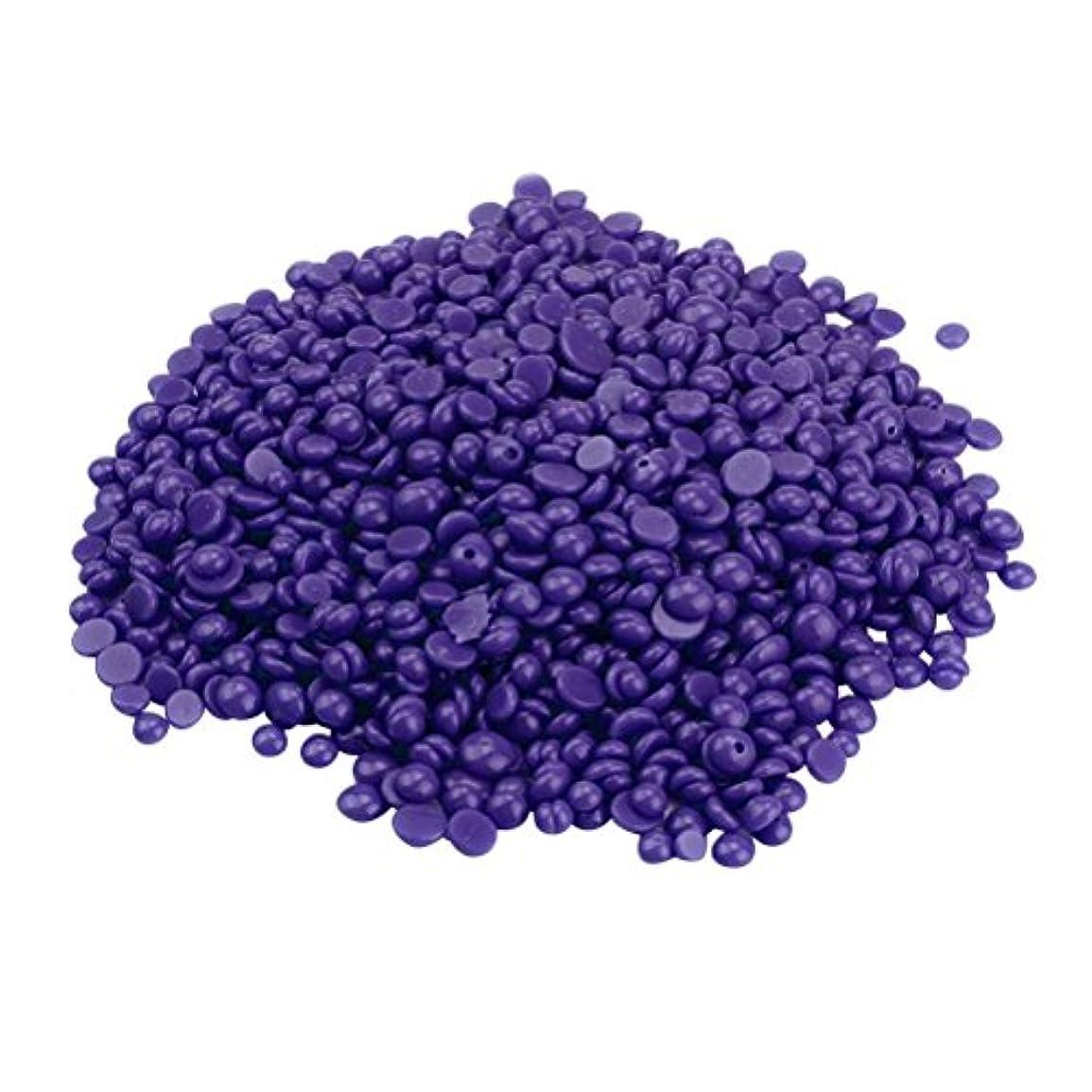 シーボード案件文房具ROSENICE ハードワックス豆 脚の脱毛 いいえストリップ脱揮発性のパール 辛い 脱毛 400g(紫の)