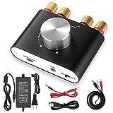 [新商品] Nobsound パワーアンプ bluetooth 50W×2 アンプ スピーカー HiFi オーディオ 電源 (ブラック) NS-01G Pro