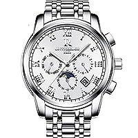 CXUNKK スイスの正のエッジのブランドは、自動機械式時計のメンズファッション腕時計蓄光防水中空鋼男性のテーブルを見て (Color : 3, Size : 40mm)