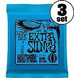 【国内正規輸入品】ERNIE BALL アーニーボール エレキギター弦 #2225 EXTRA SLINKY 3SET エクストラ・スリンキー 3セット