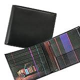 ポールスミス Paul Smith 財布 二つ折り財布 メンズ ミニクーパープリント/ブラック