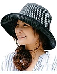 (オリエントハット)Orient Hat 紫外線対策 リボン付き 小顔効果 キャペリンハット ペーパー 巻きつば 麦わら帽子 レディース 日よけ UVカット 折りたたみ コンパクト AOR036S2
