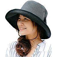(オリエントハット) Orient Hat 紫外線対策 リボン付き 小顔効果 キャペリンハット ペーパー 巻きつば 麦わら帽子 レディース 日よけ UVカット 折りたたみ コンパクト AOR036S