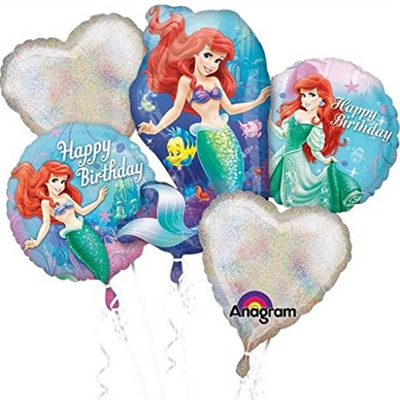 プリンセスアリエル誕生日バルーンブーケコンボMylar Foil Balloon
