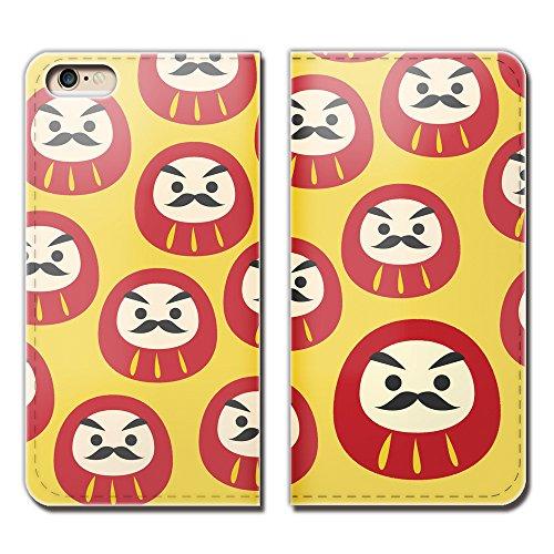 Tiara iPhone8 (4.7) iPhone8 スマホケース 手帳型 ベルトなし 祝儀 お祝い 達磨 ダルマ 必勝 手帳ケース カバ...
