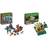 レゴ(LEGO) マインクラフト 海賊船の冒険 21152 ブロック おもちゃ 男の子 &  マインクラフト ニワトリ小屋 21140【セット買い】