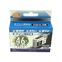 EPSON ICBK46(エプソンプリンター用互換インク) 汎用インクカートリッジ ブラック PP-EIC46BK