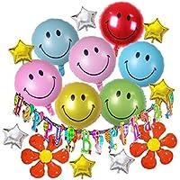 HOPIC 誕生日 飾り付け ガーランド バナー バルーン お祝い パーティー 部屋 アルミ 風船 バースデー 飾り スマイル