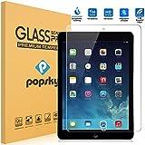 iPad Air2 強化ガラスフィルム PopSky™ iPad Air2 /iPad air/iPad 5/iPad 6 /iPad Pro 9.7インチ 採用0.33mm 強化ガラス ラウンドカッティング 硬度9H ラウンドエッジ加工 耐指紋 撥油性 高透過率液晶保護フィルム (iPad Air2, 強化ガラスフィルム)