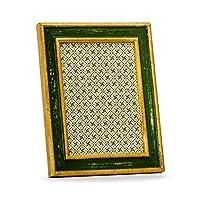 Belcraftアボラウッドイタリアンフレーム、手作りの古典的なイタリアンスタイル、5インチ7インチ写真、ギフト用の箱、緑