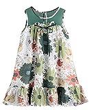 『[サコイユ] ワンピース 110~160 ガールズ 花柄 ノースリーブ 女の子 チュニック リボン 付き お花 キッズ ジュニア』画像