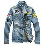【 スマイズ スマイル 】 Smaids×Smile いけてる ワイルド メンズ ヴィンテージ ユーズ ド ウォッシュ デニム ジャケット シャツ 大きい サイズ G ジャン (XL, ライト ブルー)