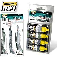 AmmoのミグMig & Su色グレー&グリーンFightersアクリルセット4 Jars 17 ml # 7204