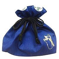 ムーミン hide & seek ランチ巾着 覗き込み ブルー MMAP2542R