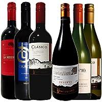 チリ コスパ重視のデイリーワイン ソムリエ厳選ワインセット 飲み比べ 赤4本 白2本 750ml 6本