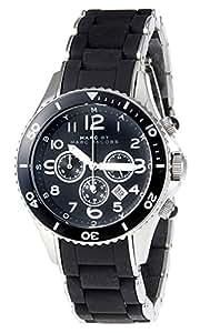 [マークバイマークジェイコブス] MARC BY MARC JACOBS 腕時計 レディース Rock40 ロック40 ブラックラバー クロノグラフ MBM2551 [並行輸入品]