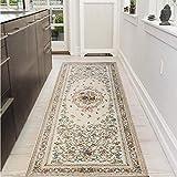 SANMU キッチンマット 75×180 洗える 台所マット 廊下敷きマット 玄関マット 抗菌防臭 滑り止め 乳白色