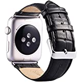 (ミーモール) Miimall Apple Watch バンド 42mm レザー皮革 高级アップル ウオッチ バンド 本 革 ベルト 留め金アップル ウォッチ バンド ((iwatch バンド)