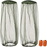 2 Pack Mosquito Repellent Mesh Head Net, TERSELY Face Netting Mask for Bugs, Gnats, No See Ums and Other Insects, Protection for Any Outdoor Lover- with Two Free Carry Bags