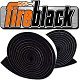 FireBlack 125 Black Nomex Self Stick Replacement Big Green Egg Gasket High Temp w/LavaLock (tm) LG XL