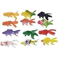 (ライチ)Lychee 水に浮くすくい用おもちゃ 金魚 和風 水のおもちゃ フローティングフィッシュ 水槽装飾 プラスチック製 12個入り