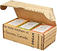 Crate 61 Citrus Soap 6-Pack Box Set, 100% Vegan Cold Process Bar Soap, scented with premium essential oils and
