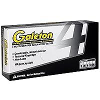 Galeton 11204-L Powder Free Nitrile 4 mil Disposable Gloves (Box of 100),Large,Black [並行輸入品]
