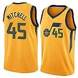 NBAジャージー、ジャズ第45号ドノバン・ミッチェルジャージー刺繍バスケットボールジャージー,1,M