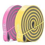 FREETOO フィットネスチューブ エクササイズバンド トレーニングチューブ レギュラータイプ 機器 男女兼用 筋力トレーニング リフティング筋肉 双色2本セット