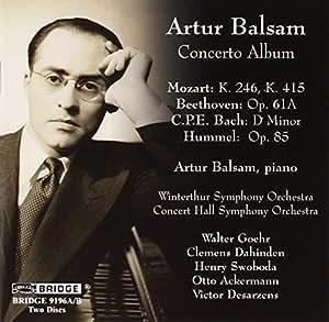 Artur Balsam-Concerto Album