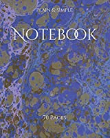 Notebook: 70 Pages (NoteBook - Plain & Simple Series)