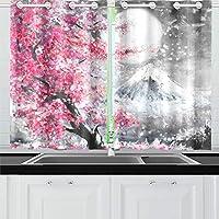 GGSXD ドレープカーテン きれいな风景 遮光 防寒 断熱 防音 Uvカット 洗える 幅65cm×丈100cm 2枚組 おしゃれ 部屋 寝室 居間 子供室用 装飾