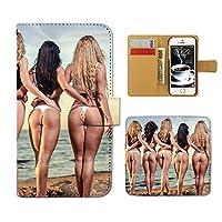 Tiara HUAWEI P9 EVA-L09 スマホケース 手帳型 PHOTO 女性 セクシー 水着 手帳ケース カバー [ET18501_05]