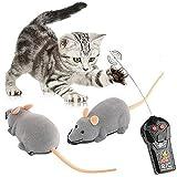 Time4DealsR 【送料無料】 猫まっしぐら ペット おもちゃ 暴走マウス 運動不足解消 ダイエット 犬の無駄吠え改善 ネズミ ラジコン マウス 猫玩具 猫じゃらし RC ランニングマウス 逃げまぅす リモコン付き 耳色ランダム グレー