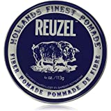 Reuzel - Fibre Water Soluble Pomade For Men - Firm, Pliable Long Lasting Hold - Non-Sticky, Flake Free - Low Shine - Vanilla Mint Scent - With Aloe Vera & Quinoa To Promote Elasticity - 4 oz, 113 g