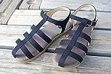 【ZOOM】ズーム スティッチ サンダルstitch sandal 1570レディース SMLサイズ (S(22cm-22.5cm), ブラック)