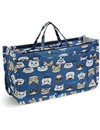 [ミコム] Micom バッグインバッグ 収納バッグ 化粧ポーチ 13ポケット 動物柄 花柄 ハート柄 レディース 多機能 大容量 防水