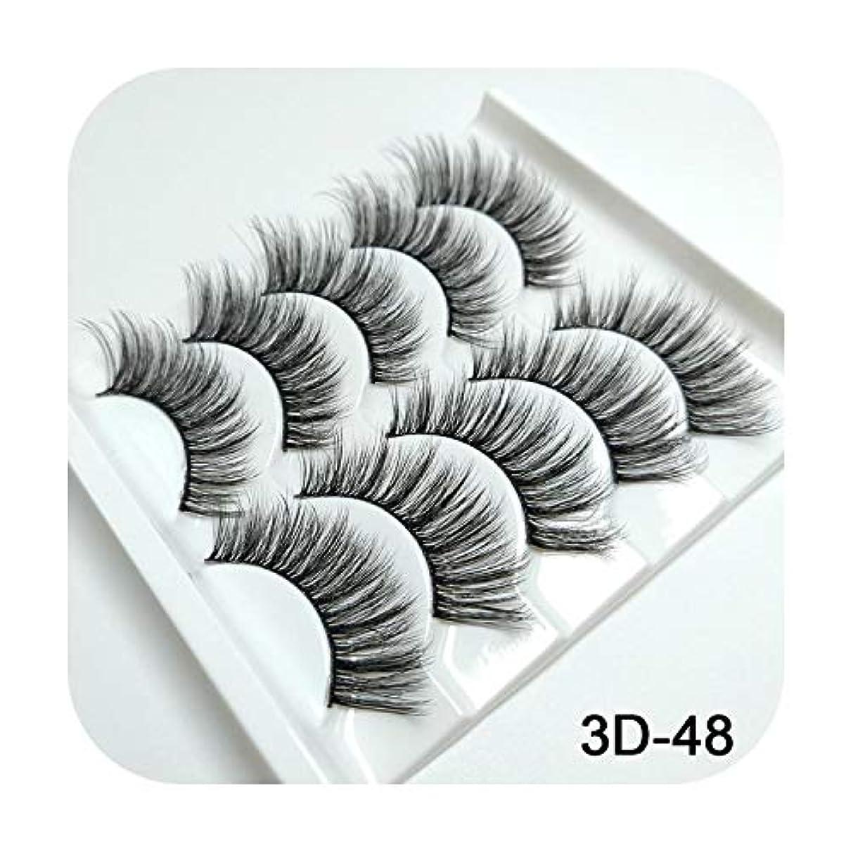 モニカフレット平行3Dミンクまつげナチュラルつけまつげロングまつげエクステンション5ペアフェイクフェイクラッシュ,3D-48