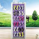 (maxima★select) 収納 した 小物 が はっきり見える クリア ウォールポケット 大容量 24 ポケット 吊り下げラック スペースの有効利用に (紫 ( パープル ))