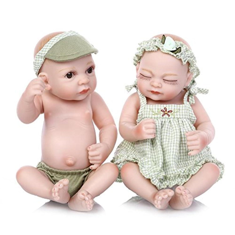 11インチハンドメイドTwims幼児人形セットMini Boy and Girl Real Look Rebornベビーキッズおもちゃウェディングギフトデコレーション