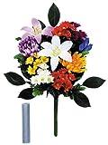 お供え用花 2束セット 【水替え不要、枯れないお花でいつも華やか】 -