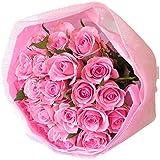 お急ぎ便 バラ 花束 ブーケ 誕生日 プレゼント 女性 花 キュートでかわいいピンク薔薇の花束 サンモクスイの手作り (ピンクバラブーケ 最短でお届け)