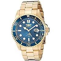 Invicta Men's Pro Diver Quartz Watch with Stainless Steel Strap, Gold, 22 (Model: 30024)