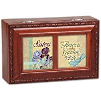 Cottage Garden Sisters Are Woodgrain Petite Music Box / Jewelry Box Plays That????儡 What Friends Are For by Cottage Garden