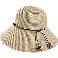Packable Straw Sun Fedora Beach Panama Derby Cloche Floppy Hat Women 54-59cm