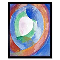 Delaunay Robert Formes Circulaires Lune No 1 Art Print Framed Poster Wall Decor 12x16 inch ポスター壁デコ